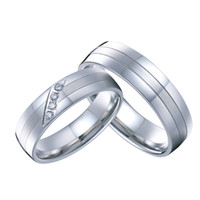 band western - Pair new classic private design white gold style western titanium engagement wedding rings couple sets for men and women