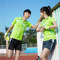 Wholesale summer new style lover Couples sportswear tennis badminton sportswear polo t shirts