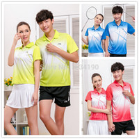 badminton apparel - Li Ning Badminton shirt Polyester Men s and Women s Tennis Shirt Team Sports Apparel Badminton clothes