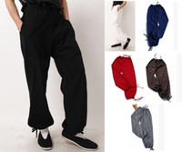 Wholesale Men s trousers pants kung fu tai chi bloomers casual trousers cotton old coarse high quality