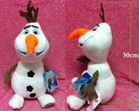 Cheap Wholesale-OLAF Plush Doll 30CM Plush Toys Brinquedos Kids Dolls Snowman olaf Plush Doll Stuffed baby reborn Toy Children bonecas