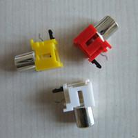 av pin jack - pin socket with the core hole PCB soldering seat AV RCA audio video jack lotus seat