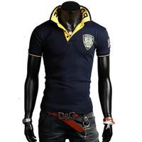 Cheap Wholesale-New fashion men polo shirt embroidery design free shipping short sleeve shirts 3 colors M L XL XXL A751