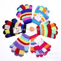 Wholesale Gift children high quality autumn winter outdoor warm women touch kids knited gloves half full finger mitten2pair GW56