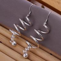 Wholesale Long Earrings for Women Fashion Jewelry Women Earings Brand Earrings High Quality Silver Earring SPCE215