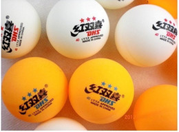 Wholesale pack stars DHS MM Table Tennis Orange and white PingPong Balls