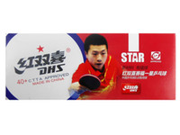 Wholesale x DHS New Materials Star Star Star white table tennis pingpong balls