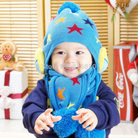 apparel winter glove - Fashion Baby Apparel Accessories Hat amp Scarf Sets For Winter Warm Hats Star Owl Cartoon Sets Children Accessories Years