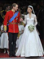 Wholesale New arrive long sleeve v neck Kate princess wedding dress wedding dresses free gift veil