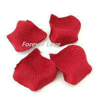 Wholesale Crimson Red Beautiful Wedding Artificial Rose Flower Petal Decor