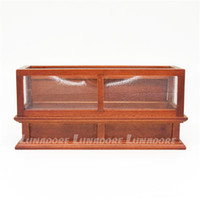 bakery furniture - Wooden Doll Furniture Miniature Brown Display Bakery Shop Cabinet Counter Showcase