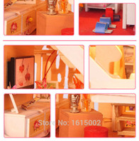baby furniture sales - China Factory Kawaii Baby DIY Miniature Dollhouses D Wooden Puzzle Doll House Furniture Accessories For Sale DH66