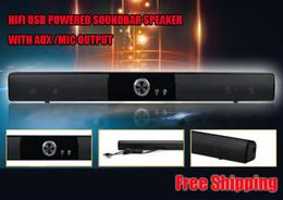 Wholesale POWERFUL USB MINI SOUNDBAR SOUND BAR HIFI USB POWERED SOUNDBAR SPEAKER FOR COMPUTER PC LAPTOP TABLETS SMALL TV ETC