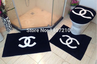 Wholesale toilet seat cover bathroom toilet seats cover fashion brand toilet cover for gift christmas toilet seat cover pack