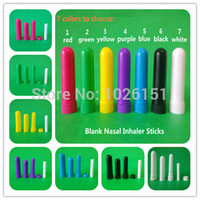 aroma tube - FreeShipping Sets colored blank inhalers blank aroma inhaler plastic nasal inhalers tube High Quality Cotton Wicks