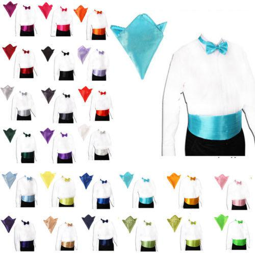 Wholesale-Fashion Gentlemen Satin Cummerbund And Bow Tie ...