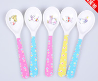 baby soups - Baby spoon children spoons spoon melamine material tableware colher talheres tea long handled mini soup spoon colheres ladle
