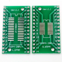Cheap Wholesale-50Pcs SOP28 SSOP28 TSSOP28 To DIP28 Adapter PCB Board Convertor 0.65mm   1.27mm pitch Plate Double Sides DIY