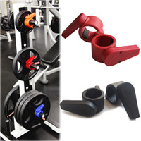 Wholesale High Quality New Arrival mm Olympic Barbell Lock Jaw Collars Weight Lifting Clamp Barbell Collars Black Red