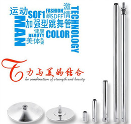 Wholesale Dancing pole training pole stripper pole Rotating reinforced dancing silver steel pole Free shpping