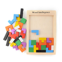 baby brain teasers - Colorful Wooden Tangram Brain Teaser Puzzle Tetris Preschool Magination Intellectual Educational Toy Game Baby Child