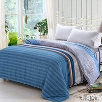 aloe blue - Duvet Cover Quilt Cover cmX200cm Aloe Cotton Korean Style Style Twin Bedding Set