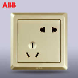 Wholesale ABB switch socket switch panel wall switch Germany Yat five gold pearl five hole socket AE205 PG