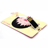 animations card wallet - Chibi Maruko animation peripheral small meatball wallet card type U disk G G DIY custom animation