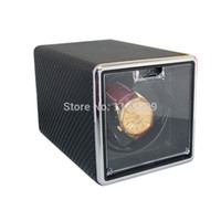 automatic wrist watch winder - New Professional Automatic Watch Winder Box Rectangle Single Wrist Watch Mute Winders Carbon Fiber Sheet