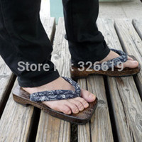 Wholesale new fashion clogs cork rivets summer clogs for men cotton fabric japanese cosplay clogs