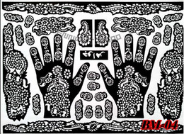 Wholesale cm piece Tattoo airbrush stencils for painting large Henna stencil template mixed designs tattoo accessories
