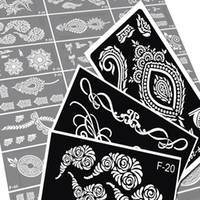 Wholesale Mixed Design Henna Tattoo Stencils Glitter Temporary Indian Mehndi Henna Tattoo Kit Airbrush Stencil For Body Painting