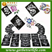 Wholesale Painting Stencils Painted Template Glitter Tattoo pieces temporary tattoo Fashion designs patterns stickers