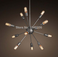 antique finish paint - Black Antique Wrought Iron Chandelier Vintage Metal Large Wrought Iron Chandelier Lighting With Lamp E27 Painted Finish