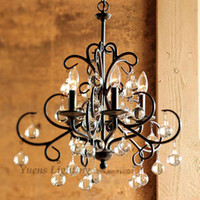 atmospheric art - American Country Wrought Iron Chandelier Sitting Room Lights Luxury Restaurant Lamp Atmospheric Chandeliers
