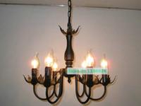 antique iron candle - lamps vintage chandelier led candle iron antique Chandeliers European country dining room living room kids bar hanging light