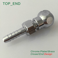 air hose ends - x25mm Hose Barb Ball Foot Air Chuck w Hex Nut Closed End Design Chrome Plated Brass Tire Tyre Inflator Gauge Fitting