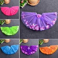 Wholesale Baby Girls Kid Toddler Child Petal Camellia tutus Dance Short Dresses PettiSkirt