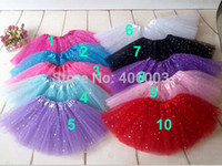 Wholesale Glitter Tutu Skirt Baby Girls Skirts Ballet Skirt Dance Tutu skirts New Arrived Tutus Pettiskirt By EMS