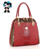 designer crocodile handbags - Genuine Snake texture Crocodile Leather bags handbags women famous brands designer Tote shoulder bags evening crossbody bag