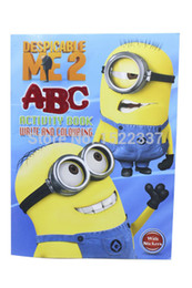 Wholesale Despicable Me ABC activity write amp coloring book with stickes cartoon jorge stewart story drawing book puzzle game toy