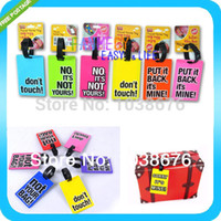 Wholesale NEW Heavy Duty PVC silicone letter travel Baggage Luggage tag Bag Tag bus card sets Silica gel products FREESHIPPING
