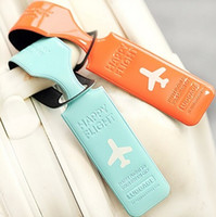 Wholesale Glossy Colorful Luggage Tags Labels Strap Name Address ID Suitcase Bag Baggage Travel
