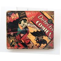 animate batman - Animated cartoon wallet Pop Heroes Toon Batman Brieftasch Q version Batman wallet young students personality wallet DFT