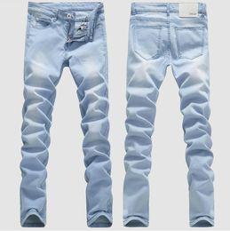 Wholesale Spring New Straight Designer Mens Jeans Fashion Denim Pants Korea Style True Jeans For Men