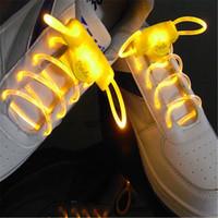 Wholesale Hot LED elastic shoe laces Glow Stick Flashing led shoelaces one pair