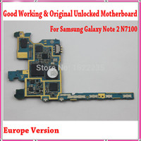 Wholesale Original n7100 Main Board Europe Version Unlocked For Samsung Galaxy Note N7100 Motherboard with Chips Good Working