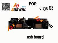 achat en gros de jiayu phone-Gros-Jiayu S3 carte USB + Mic Microphone 100% Original New remplacement de téléphone cellulaire Assemblée Réparation partie de fixation Accessoires