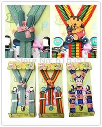 Wholesale kids elastic clip on suspenders boy and bow tie factory directly