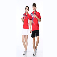 accept custom women suit - summer style for men women badminton accept custom badminton shirt sportswear sports suit clothing shirt shorts Quick Dry